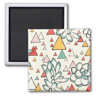 Succulent et aimant de triangles