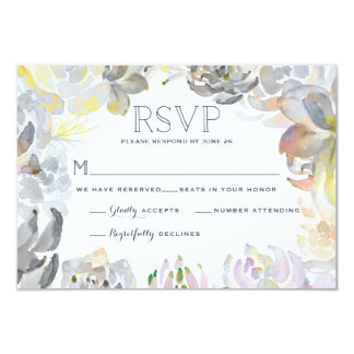 Succulents doux épousant RSVP Carton D'invitation 8,89 Cm X 12,70 Cm