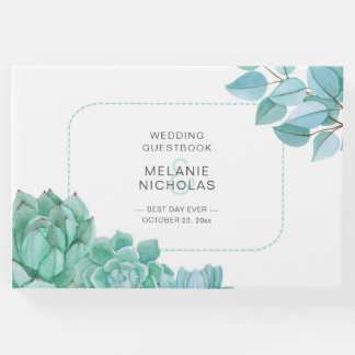 Succulents épousant le livre d'invité 3717