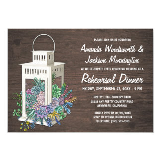 Succulents + Invitations de dîner de répétition de