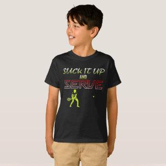Sucez-le et servez le tennis t-shirt