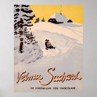 Suchard Velma, meurent Vorzügliche Ess Chocolade Poster
