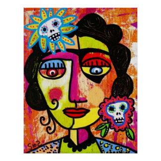 Sucre d'améthyste Sull Frida par SilberZweigArts Posters