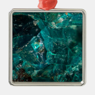 Sucre turquoise criqué ornement carré argenté