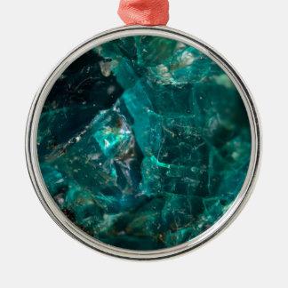 Sucre turquoise criqué ornement rond argenté