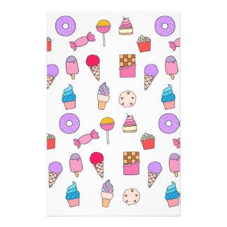 Sucrerie, bonbons et gâteau papier à lettre