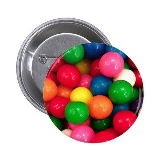 Sucrerie colorée de boule de gomme badge rond 5 cm
