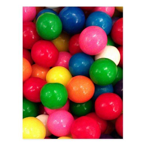 Sucrerie color e de boule de gomme cartes postales zazzle - Font des boules de gomme ...