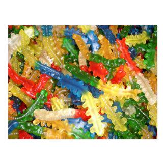 Sucrerie de centipèdes de Gummi Carte Postale