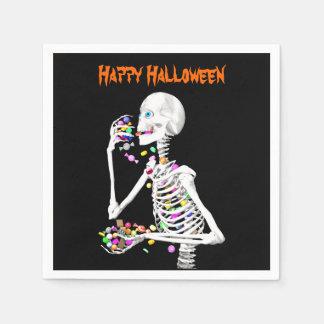 Sucrerie squelettique de consommation Halloween Serviettes Jetables