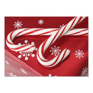 Sucres de canne sur le présent carton d'invitation  12,7 cm x 17,78 cm