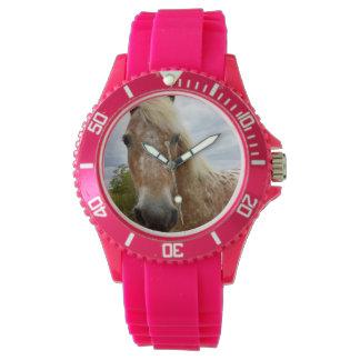 Sucrez la montre rose de sport de dames de cheval montres bracelet