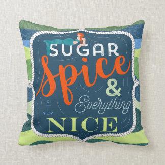 sucrez le coussin intéressant d'épice, maison de