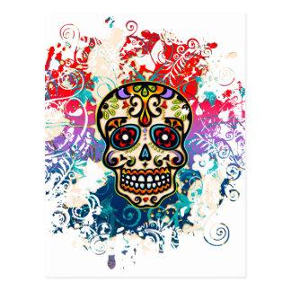 Sucrez le crâne, Mexique, Dias de los Muertos Carte Postale