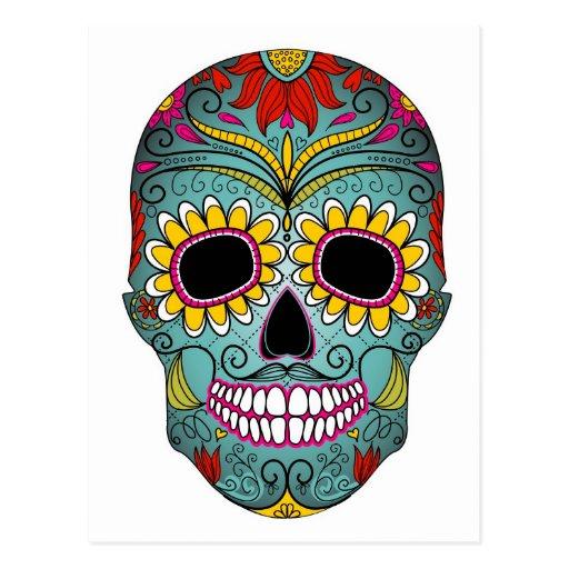 Sucrez le jour de crâne des morts avec les ornemen carte postale