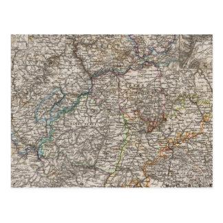 Sud-ouest Allemagne et Suisse Carte Postale