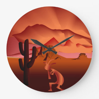 Sud-ouest Kokopelli Grande Horloge Ronde