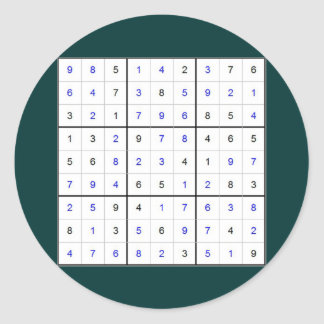 sudoku sticker rond