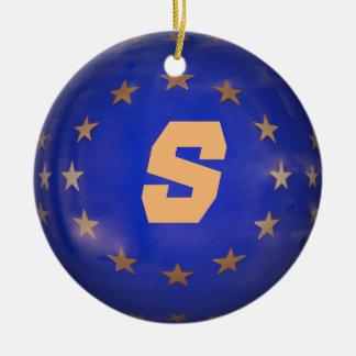 Suédois E.U. Christmas Ornament Ornement Rond En Céramique