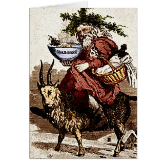 Suédois Père Noël et carte de voeux de chèvre de