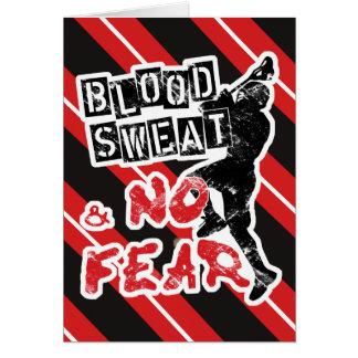 Sueur de sang et aucune carte de voeux de lacrosse