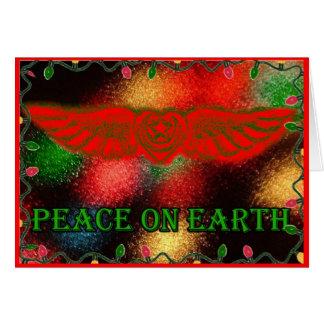 Sufi s'est envolé la paix de coeur sur la carte de