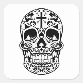 SugarSkull Black-01.png Sticker Carré