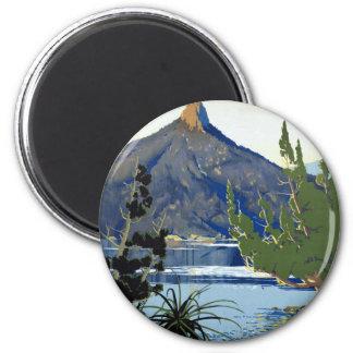 ~ Suisse de la Tasmanie des sud Magnet Rond 8 Cm