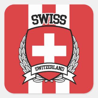 Suisse Sticker Carré