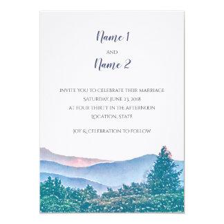 Suite de faire-part de mariage de montagne
