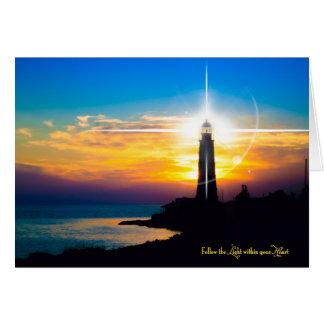 Suivez la lumière dans votre coeur carte de vœux