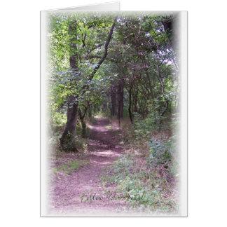 Suivez le chemin de votre coeur carte de vœux