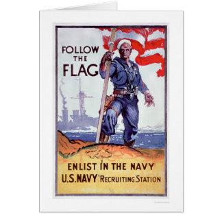 Suivez le drapeau - enrôlez la marine (US02290A) Carte De Vœux