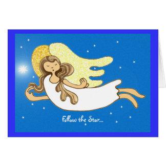 Suivez l'étoile… carte de vœux