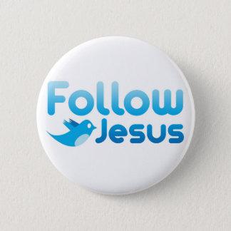 Suivez l'humour de gazouillement de Jésus-Christ Pin's