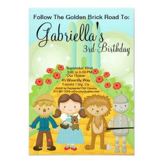 Suivez l'invitation d'or d'anniversaire de route carton d'invitation  12,7 cm x 17,78 cm