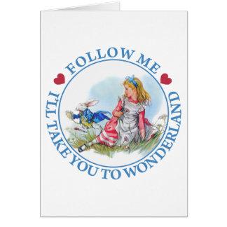 Suivez-moi - je vous porterai au pays des carte de vœux