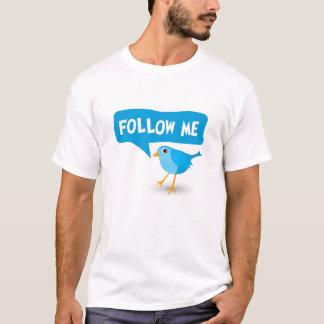 Suivez-moi le T-shirt des hommes bleus d'oiseau de