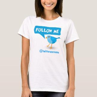 Suivez-moi le T-shirts des femmes bleues d'oiseau