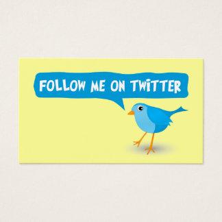 Suivez-moi sur des cartes de visite de profil de