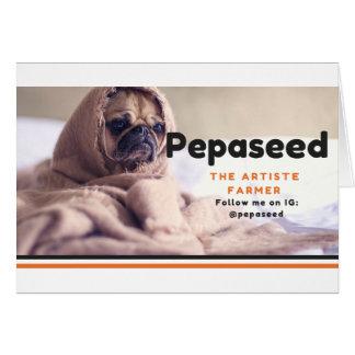Suivez-moi sur IG-@pepaseed (1) Carte De Vœux