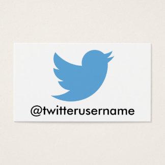 Suivez-moi sur le gazouillement (l'username cartes de visite