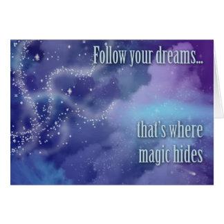 Suivez vos rêves… carte de vœux