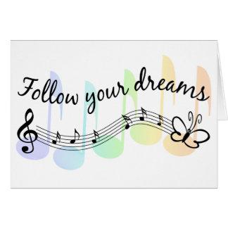 Suivez vos rêves carte de vœux