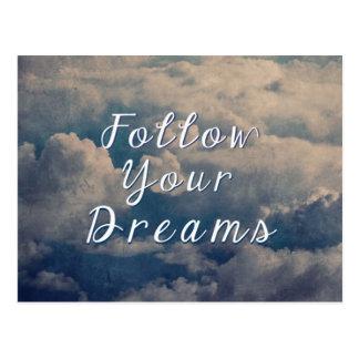 Suivez vos rêves carte postale