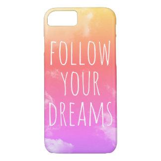 Suivez vos rêves inspirant le cas de l'iPhone 7 de Coque iPhone 8/7