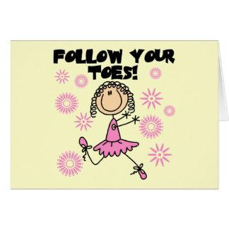 Suivez vos T-shirts et cadeaux de ballerine Carte De Vœux