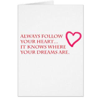 Suivez votre carte de coeur