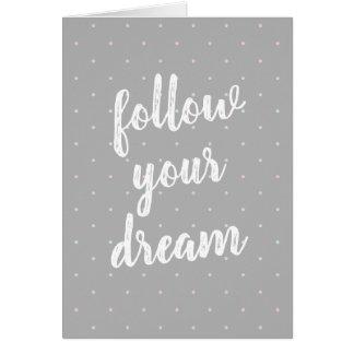 Suivez votre carte de note en pastel rêveuse de