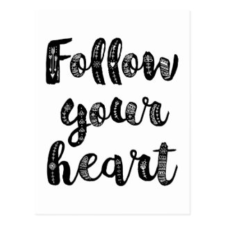 Suivez votre coeur carte postale